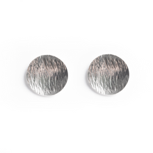 Load image into Gallery viewer, Sterling Silver Ocean Wave Stud