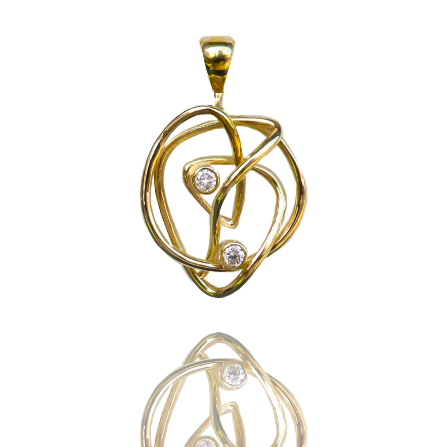 18kt Gold Endless Love Diamond Pendant