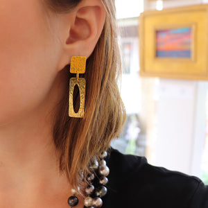 18kt Gold Contemporary Classic Earring