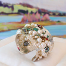 Load image into Gallery viewer, Ocean Wave Blossom Cuff
