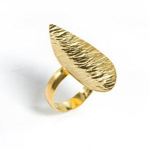 Ocean Wave Leaf Ring