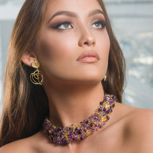 Signature Classic 18kt Gold and Amethyst Collar