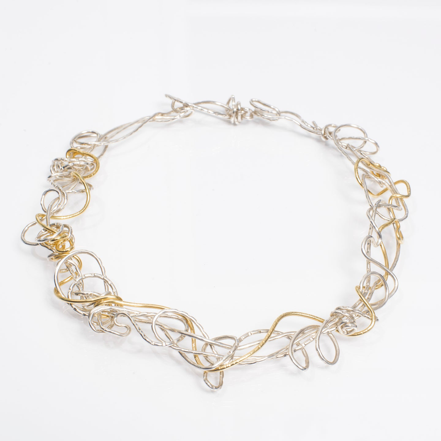 Silver and Gold Necklace | Nikki Sedacca Art Jewelry