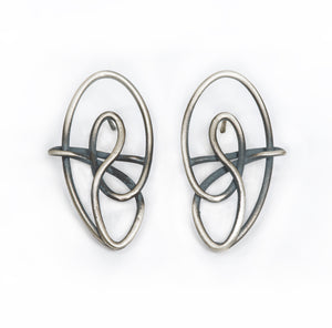 Endless Love Oxidized Earring