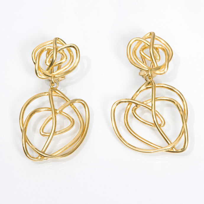 18kt Gold 'Endless Love' Dangle Earring