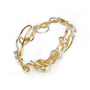 18kt Gold and Sterling Silver Endless Love Bracelet