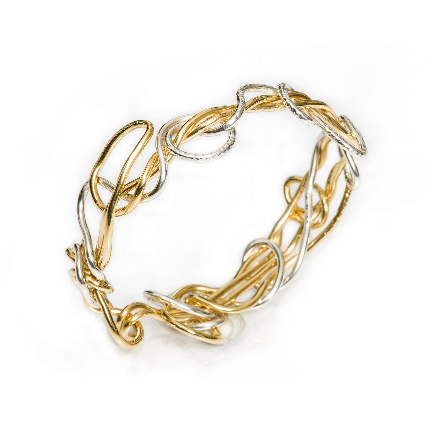 Mixed-Metal Endless Love Bracelet