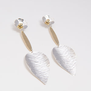 Sterling Silver and 18kt Gold Botanical Earrings