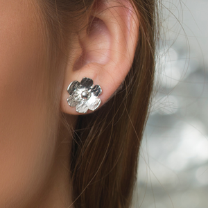 Sterling Silver Small Blossom Stud