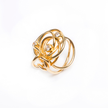 Load image into Gallery viewer, 18kt Gold Endless Love Ring with Diamonds