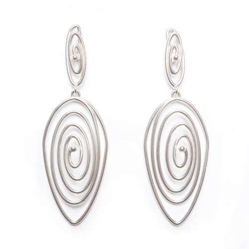 Product shot of sterling silver fascination earring