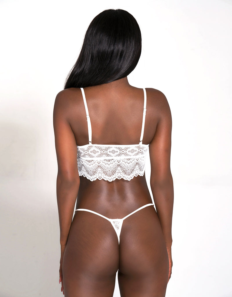 Cree Caged Bralette White