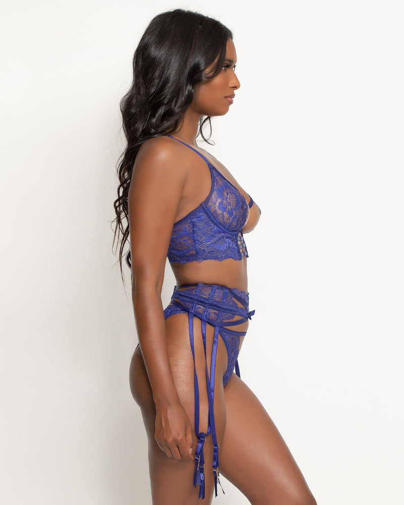 Molly 3-Piece Garter Set Azure