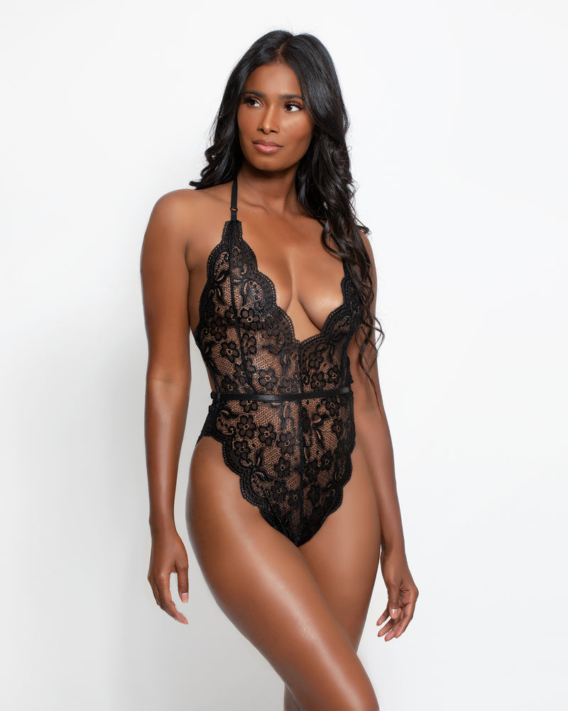 Cole Plunge Bodysuit Black