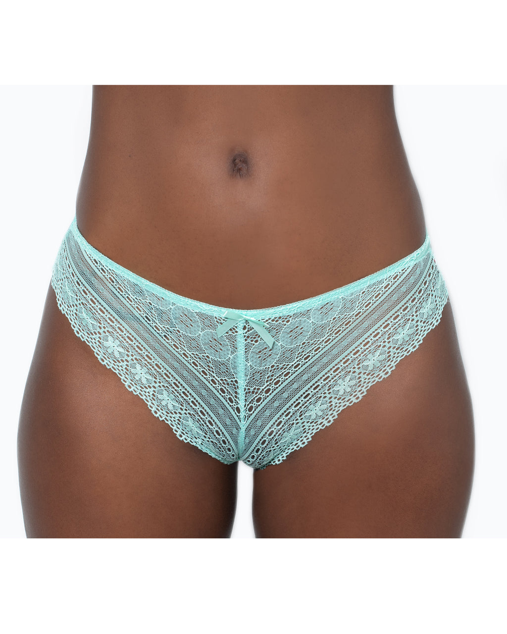 Geo Galloon Lace Panty Mint