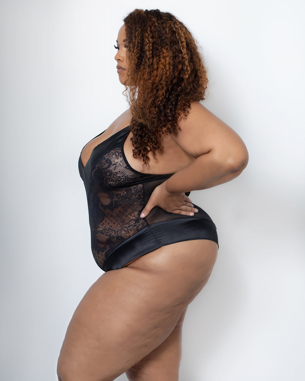 Audre Teddy Black Curvy