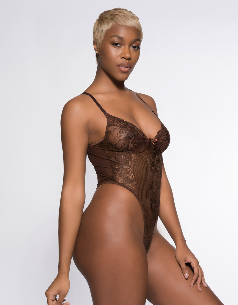 Eryn Bodysuit Chocolate