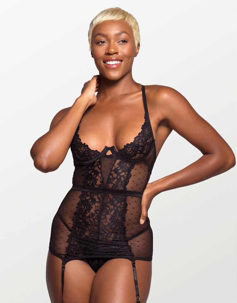 Brookell Strappy Harness Teddy Black