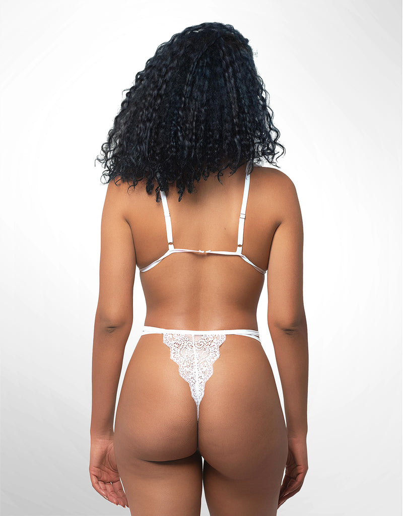 Jennie Strappy Wire-Free Bra & Panty Set White