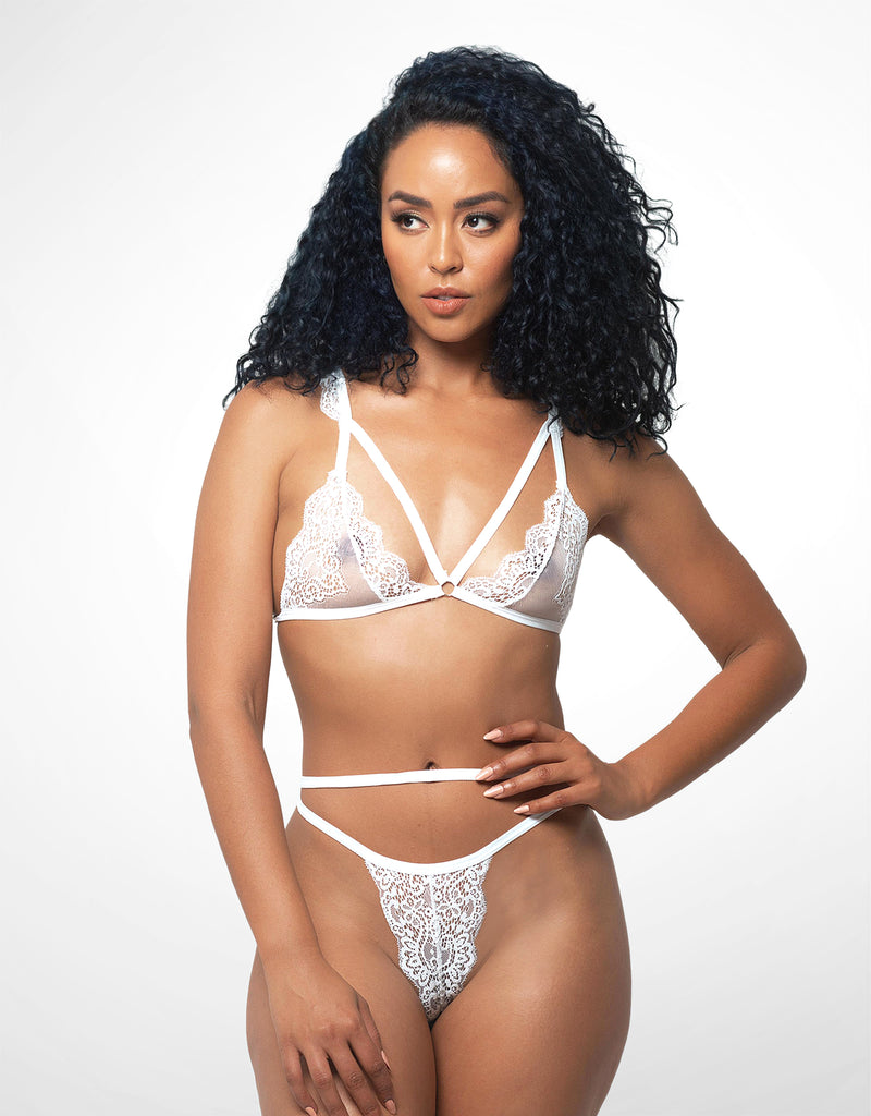 Jennie Strappy Thong White