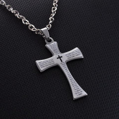 361L Steel Stainless Engraved Latin Necklace Free Just pay Shipping | Angelic Gift Shop