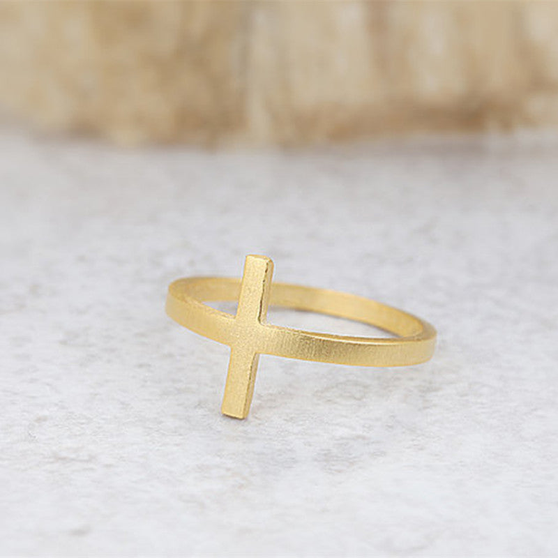 Jesus Religious Sideways Cross Ring Free Just pay Shipping | Angelic Gift Shop