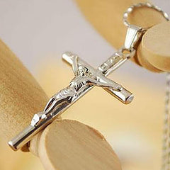 Stainless Steel Crucifix Jesus Necklace Free Just pay Shipping | Angelic Gift Shop