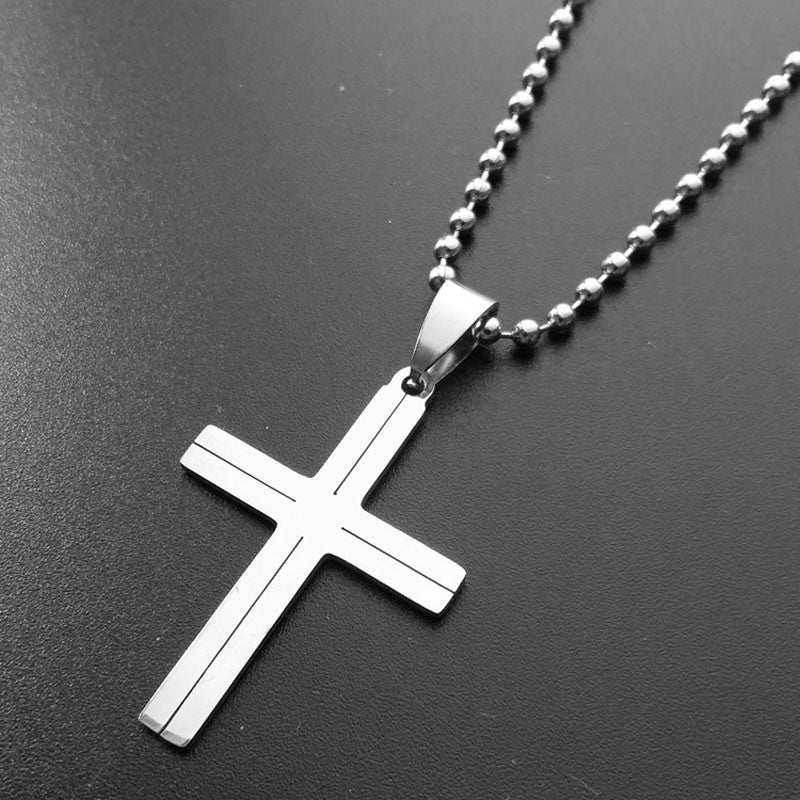 Stainless Steel Simple Cross Necklace Free Just pay Shipping | Angelic Gift Shop