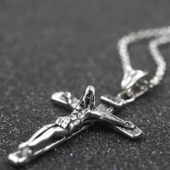 Vintage Crucifix Jesus Necklace Free Just pay Shipping | Angelic Gift Shop