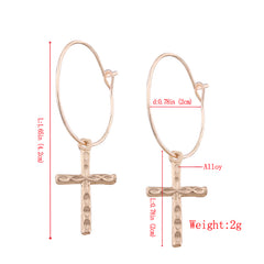 Jesus Gold Cross Earring Free Just pay Shipping | Angelic Gift Shop