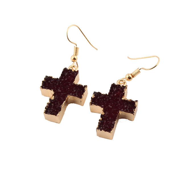 Classic Jesus Cross Earring Free Just pay Shipping | Angelic Gift Shop