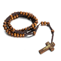 Religious Chinese Knot Wood Beads Necklace Free Just pay Shipping | Angelic Gift Shop