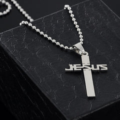 Stainless Steel JESUS Cross Pendant Necklace Free Just pay Shipping | Angelic Gift Shop