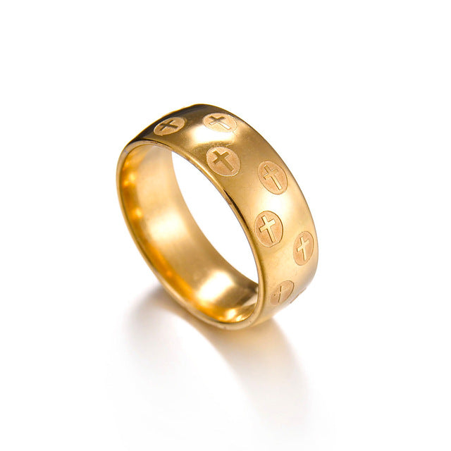 Titanium Steel Gold Men Purity Ring Free Just pay Shipping | Angelic Gift Shop