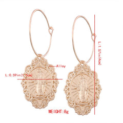 Religious Jesus Pendant Earring Free Just pay Shipping | Angelic Gift Shop