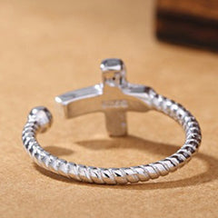 Antique Silver Cross Silver Ring