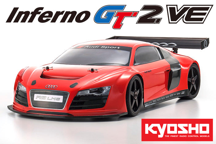 Kyosho Inferno GT2 VE Audi R8 LMS Race Spec Readyset (RTR) 2.4G Elecrtic 4WD