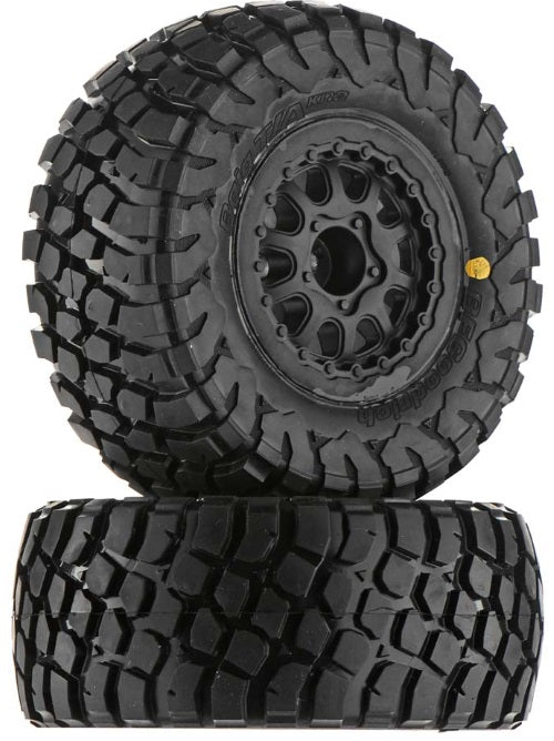 "Pro-Line BF Goodrich Baja T/A KR2 SC 2.2""/3.0"" M2 (Medium) Tires Mounted on Rengade Black Wheels for 2WD Slash & 4X4 Front or rear (1 pair)"