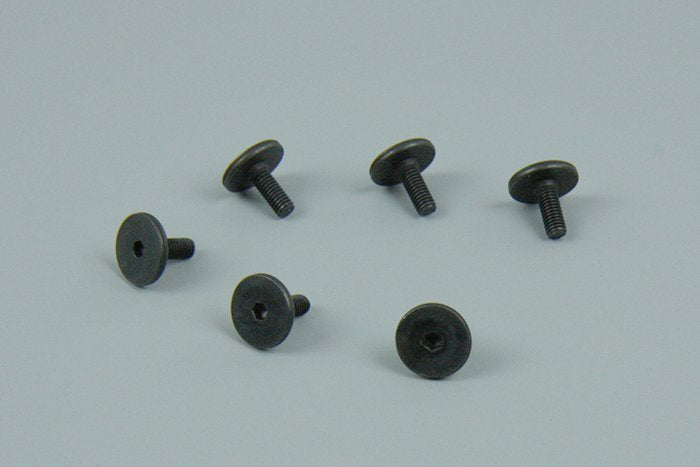 Screws, 3x8mm flat-head machine (hex drive) (6)