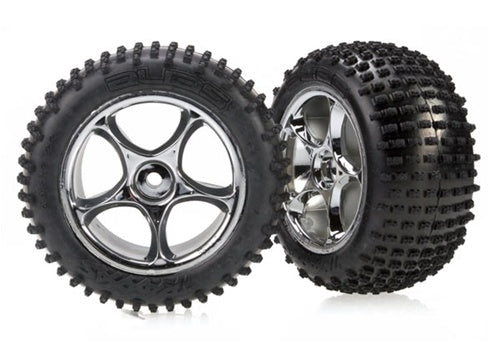 Tires & wheels, assembled (Tracer 2.2' chrome wheels, Alias 2.2' tires) (2) (Bandit rear, soft compound with foam inserts)