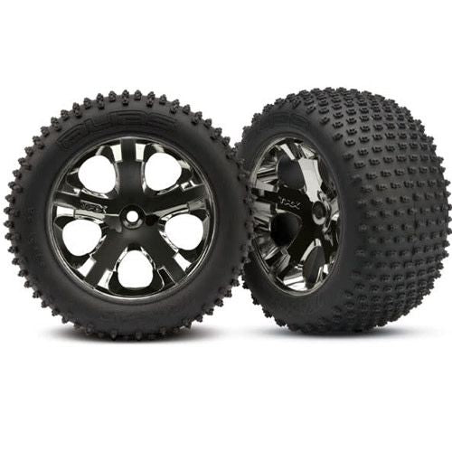 Tires & wheels, assembled, glued (2.8') (All-Star black chrome wheels, Alias® tires, foam inserts) (rear) (2) (TSM rated)