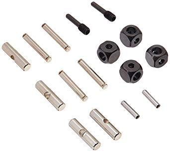 U-joints, driveshaft (carrier (4)/ 4.5mm cross pin (4)/ 3mm cross pin (4)/ e-clips (20)) (metal parts for 2 driveshafts)