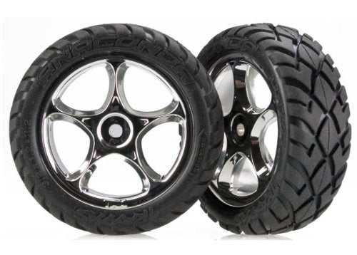 TRAXXAS tires and wheels Anaconda 2.2 chrome (1 pair)