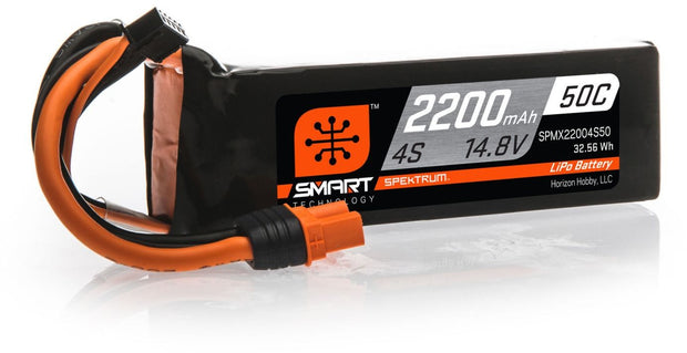 SPEKTRUM SMART TECHNOLOGY 14.8V 4S 2200mAh LiPo Battery 50C