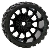Power Hobby Scorpion Belted Moster Truck Tires on Viper Wheels 17mm Hex