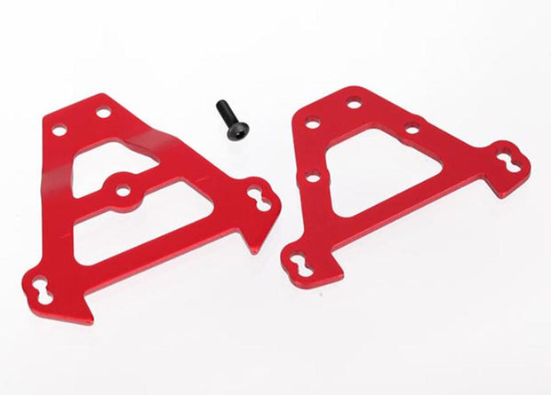Bulkhead tie bars, front & rear (red-anodized aluminum)