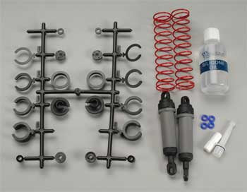 Ultra Shocks (grey) (xx-long) (complete w/ spring pre-load spacers & springs) (rear) (