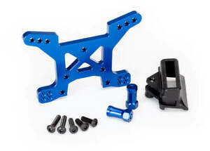 TRAXXAS Shock tower Rear blue Rustler 4x4