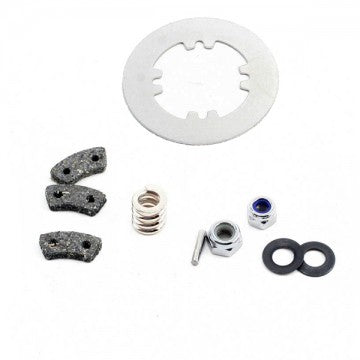 Rebuild kit, slipper clutch (steel disc/ friction pads (3)/ spring (2)/ 2x9.8mm pin/ 5x8mm MW/ 5.0mm NL (1)/ 4.0mm NL (1))