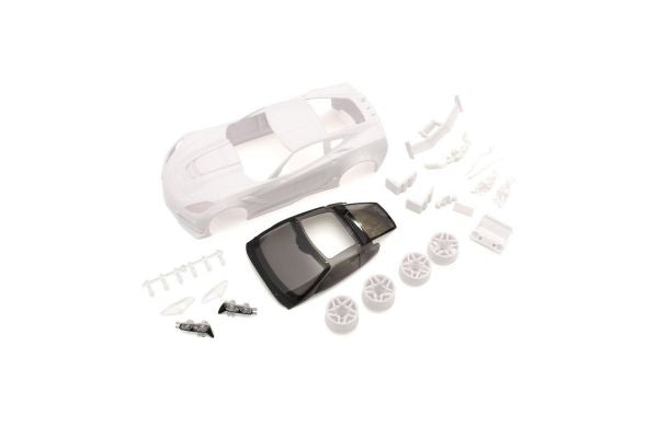 KYOSHO MINI-Z  Chevrolet Corvette ZR1 configuration white body set (w/rim for RWD)